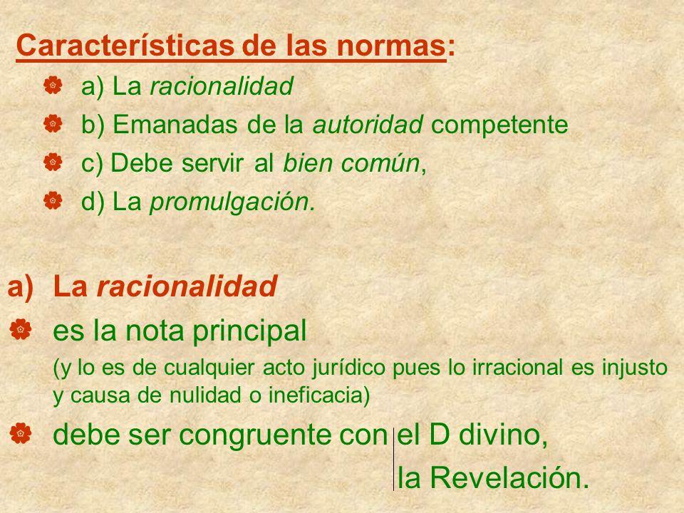 Características de las normas: