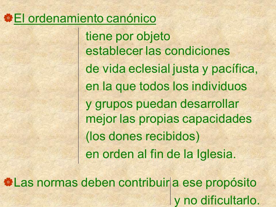 El ordenamiento canónico