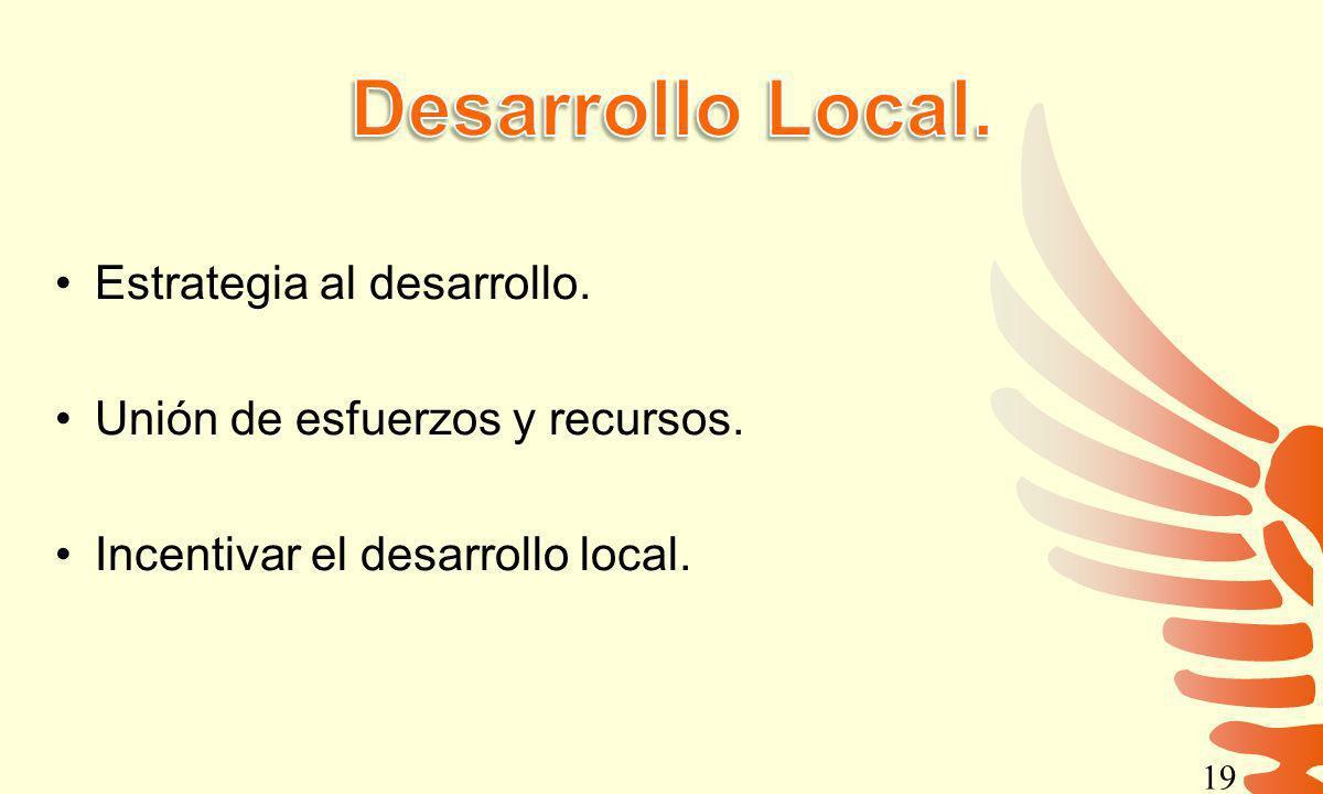 Desarrollo Local. Estrategia al desarrollo.