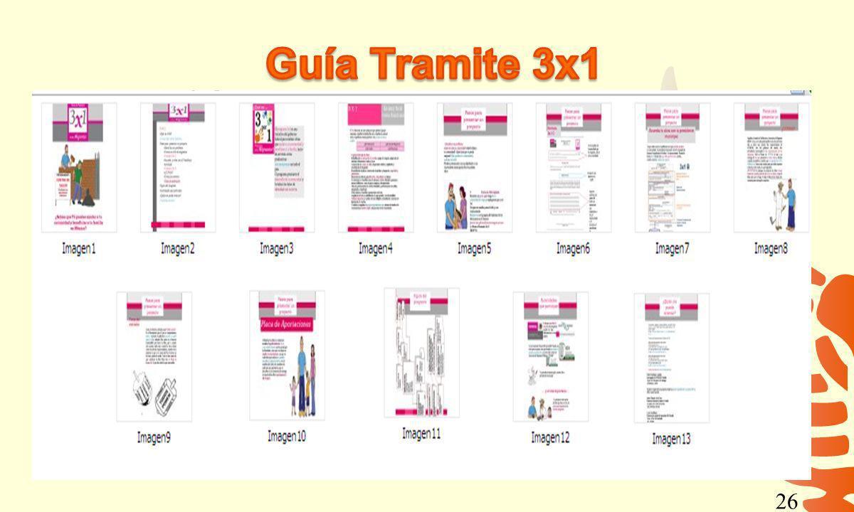 Guía Tramite 3x1