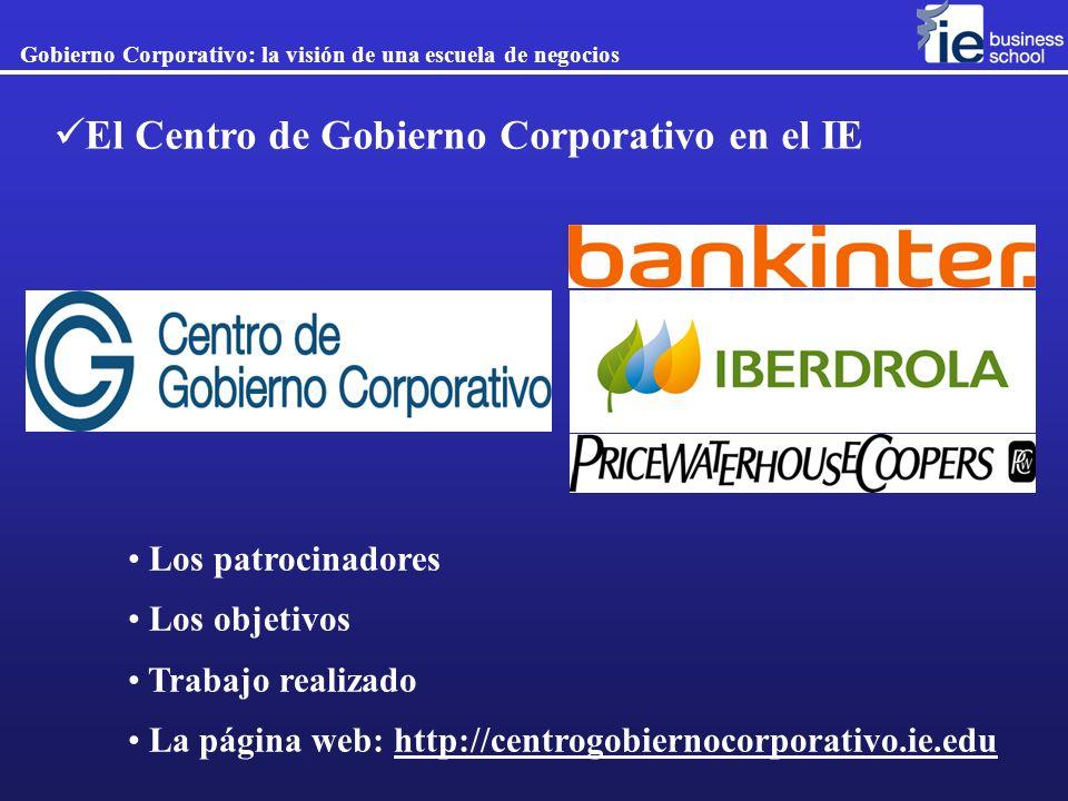 El Centro de Gobierno Corporativo en el IE