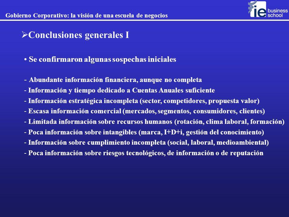 Conclusiones generales I