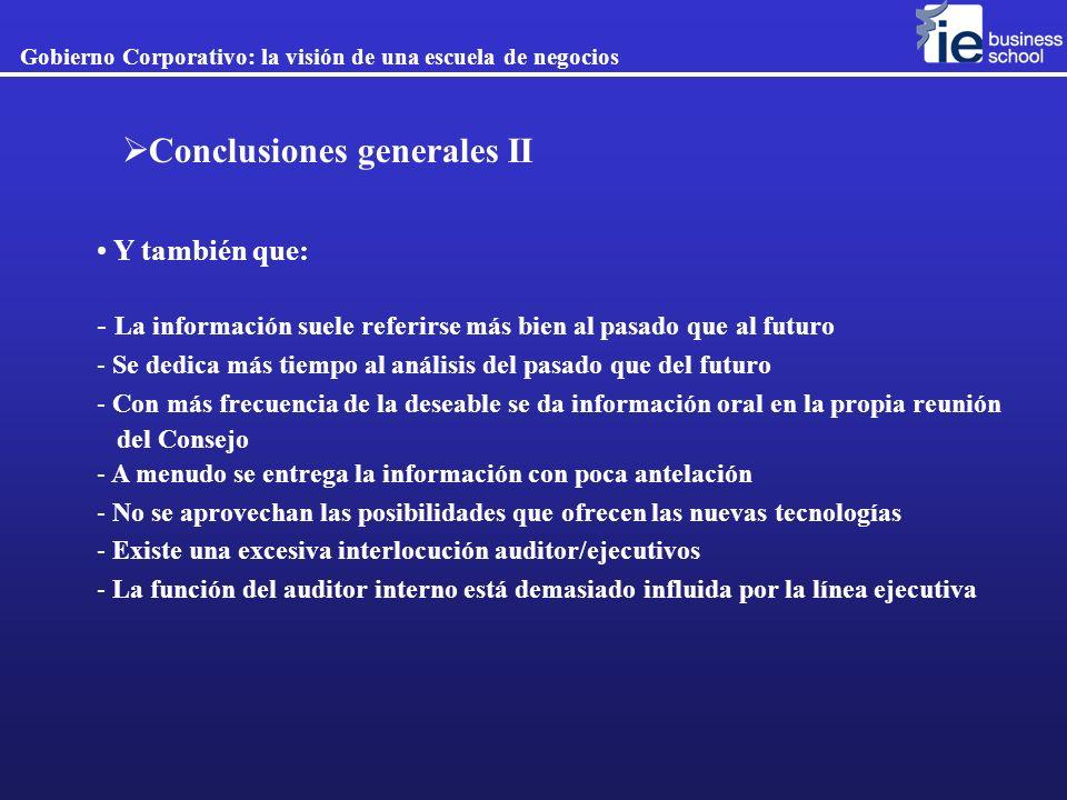 Conclusiones generales II