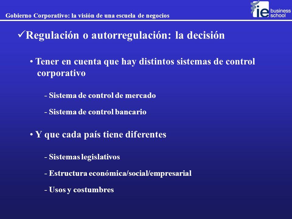 Regulación o autorregulación: la decisión