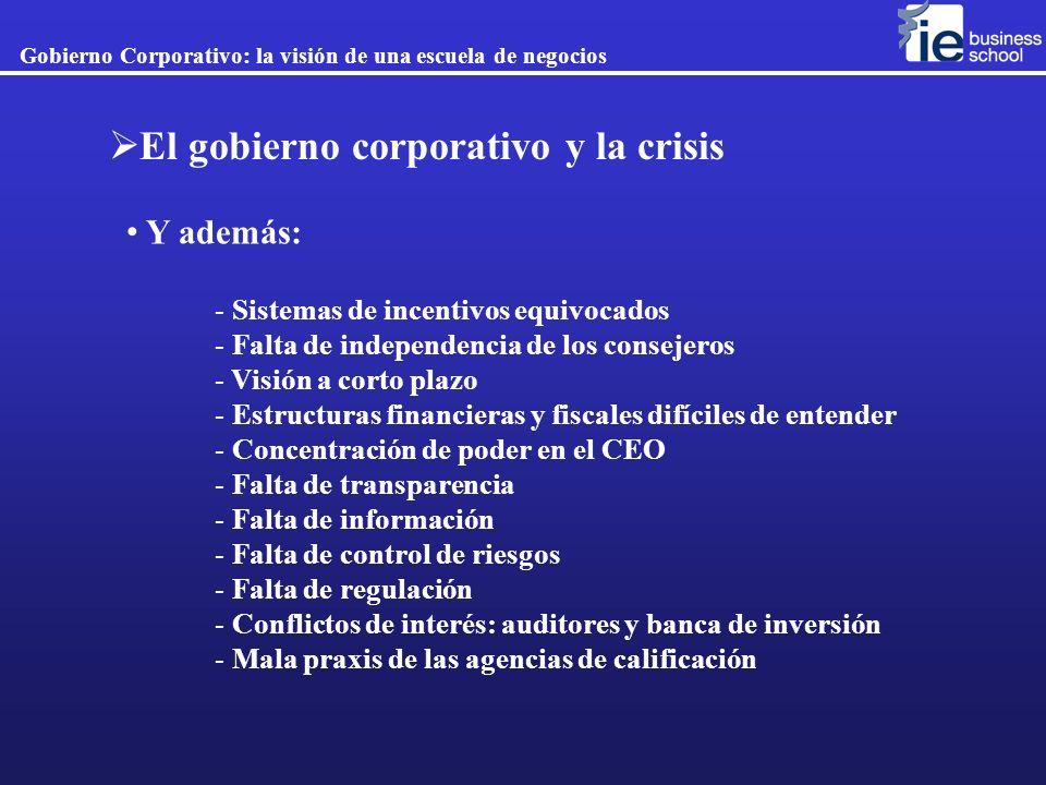 El gobierno corporativo y la crisis