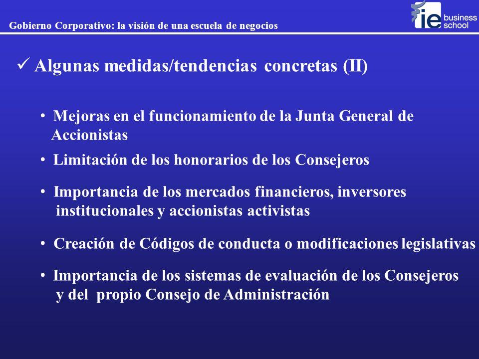 Algunas medidas/tendencias concretas (II)