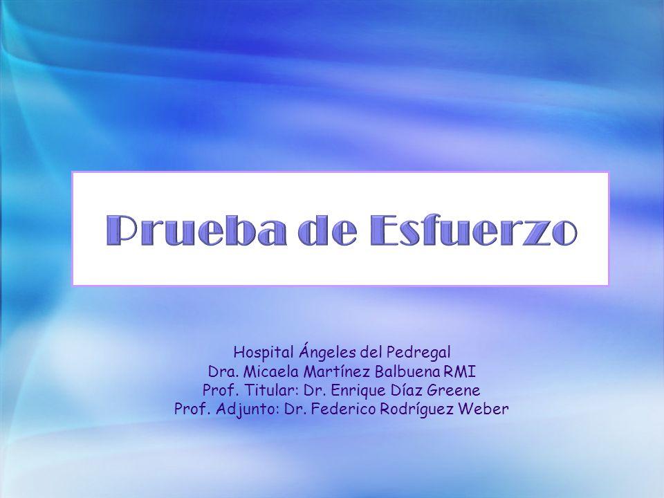 Prueba de Esfuerzo Hospital Ángeles del Pedregal