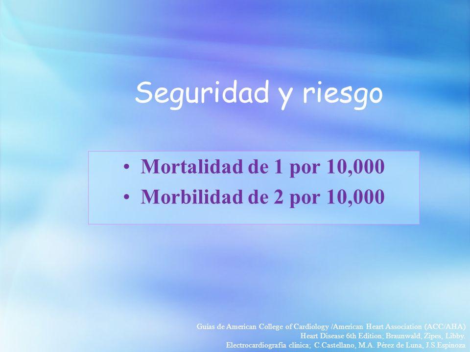 Seguridad y riesgo Mortalidad de 1 por 10,000