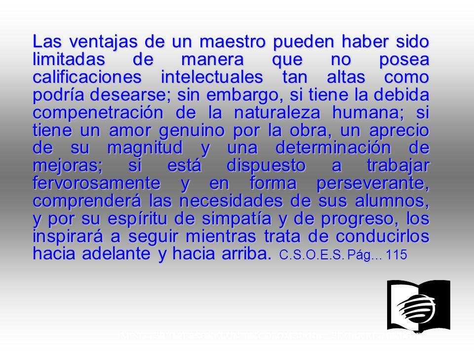 MINISTERIO PERSONAL UNION COLOMBIANA EDGAR REDONDO R.
