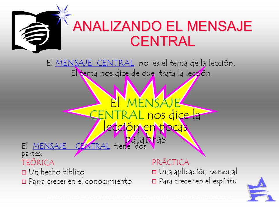 ANALIZANDO EL MENSAJE CENTRAL