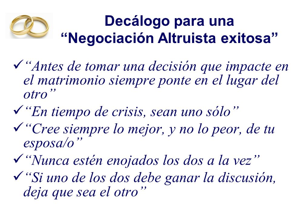 Decálogo para una Negociación Altruista exitosa