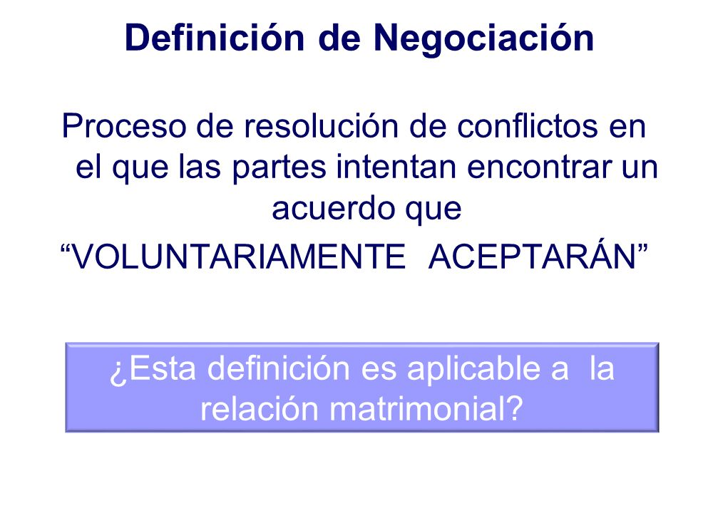 Definición de Negociación