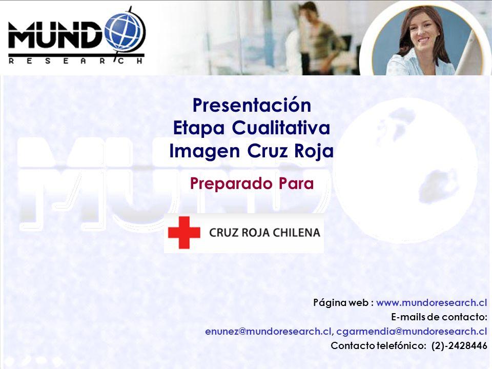 Presentación Etapa Cualitativa Imagen Cruz Roja