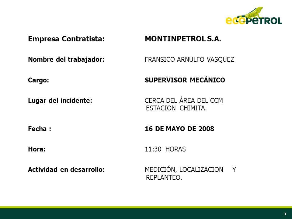 Empresa Contratista: MONTINPETROL S.A.