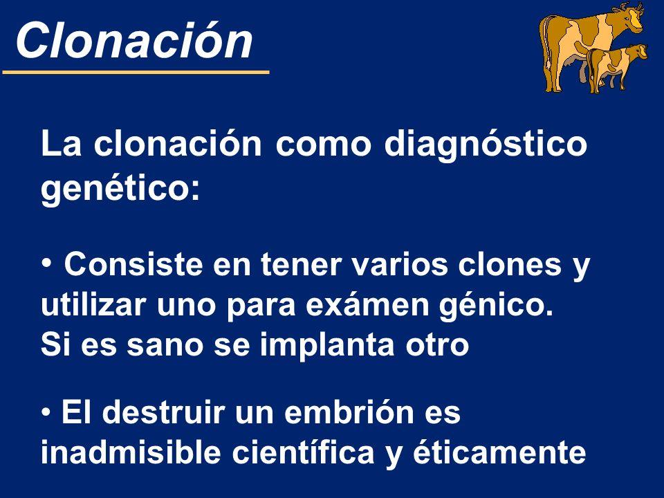 La clonación como diagnóstico genético: