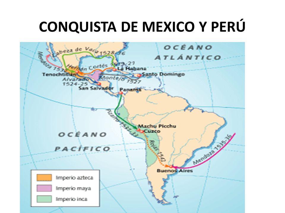 CONQUISTA DE MEXICO Y PERÚ