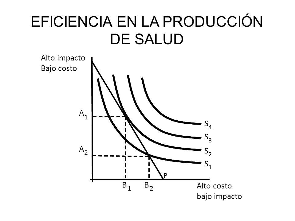 EFICIENCIA EN LA PRODUCCIÓN DE SALUD