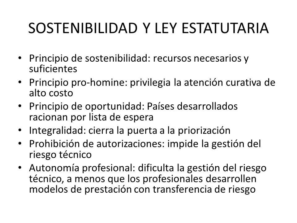 SOSTENIBILIDAD Y LEY ESTATUTARIA