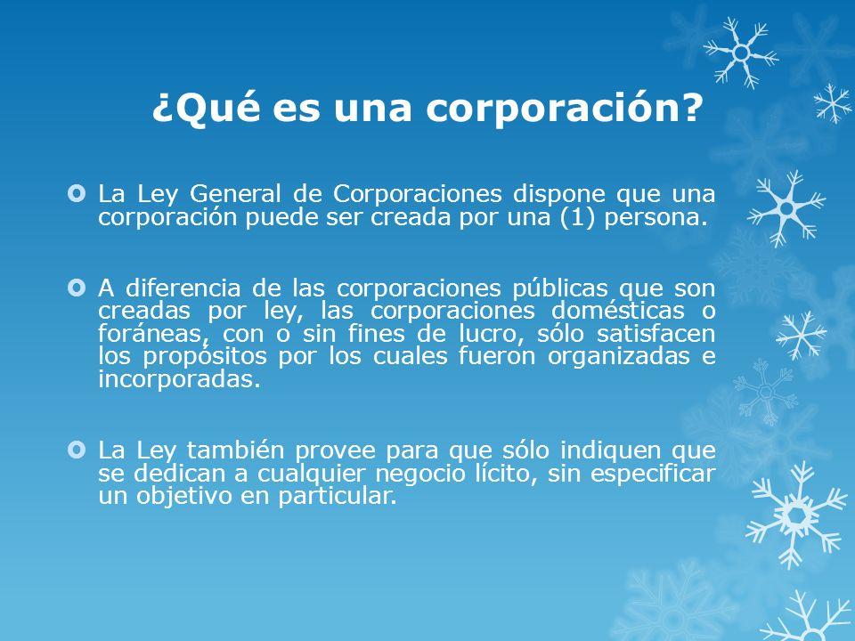 ¿Qué es una corporación