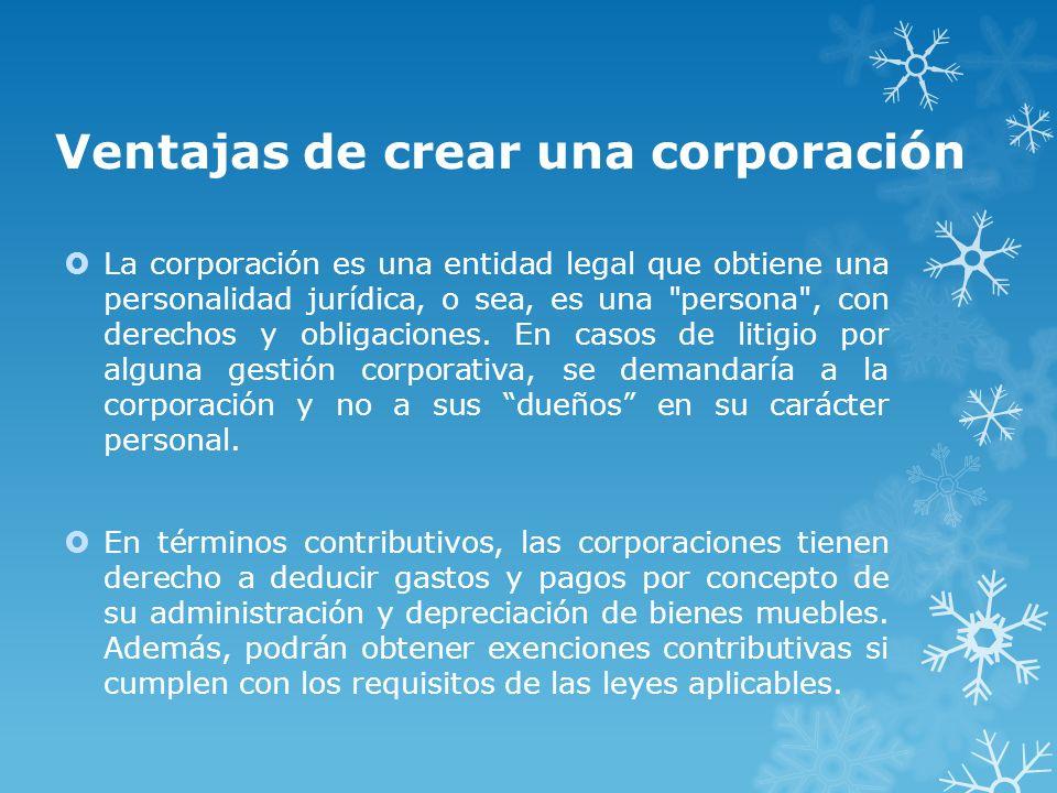 Ventajas de crear una corporación