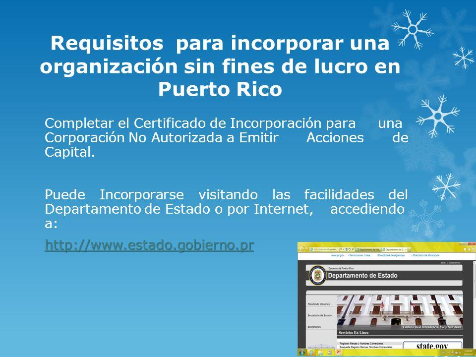 Requisitos para incorporar una organización sin fines de lucro en Puerto Rico