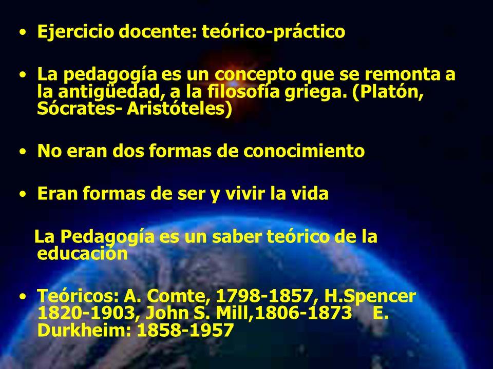 Ejercicio docente: teórico-práctico