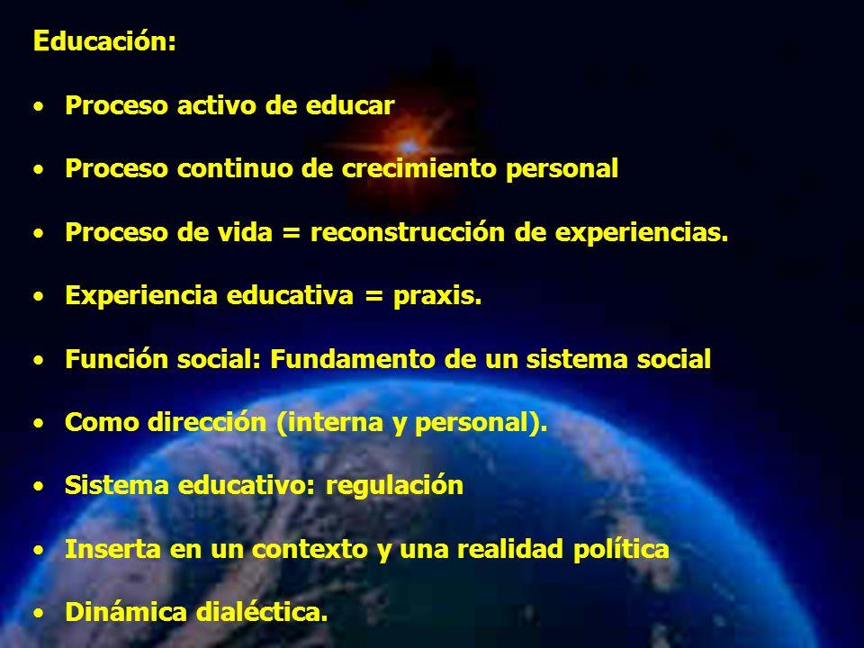 Educación: Proceso activo de educar