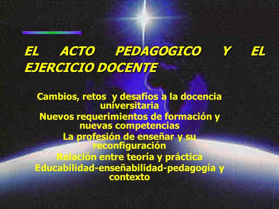 EL ACTO PEDAGOGICO Y EL EJERCICIO DOCENTE