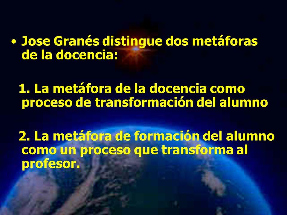 Jose Granés distingue dos metáforas de la docencia: