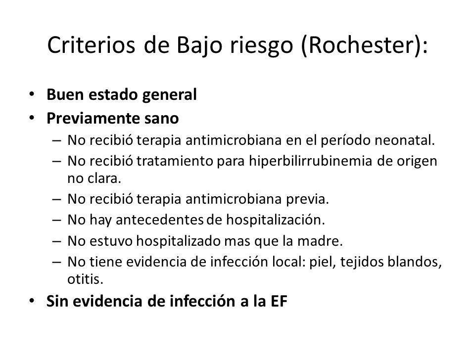 Criterios de Bajo riesgo (Rochester):