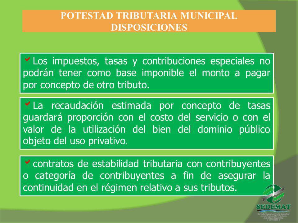 POTESTAD TRIBUTARIA MUNICIPAL