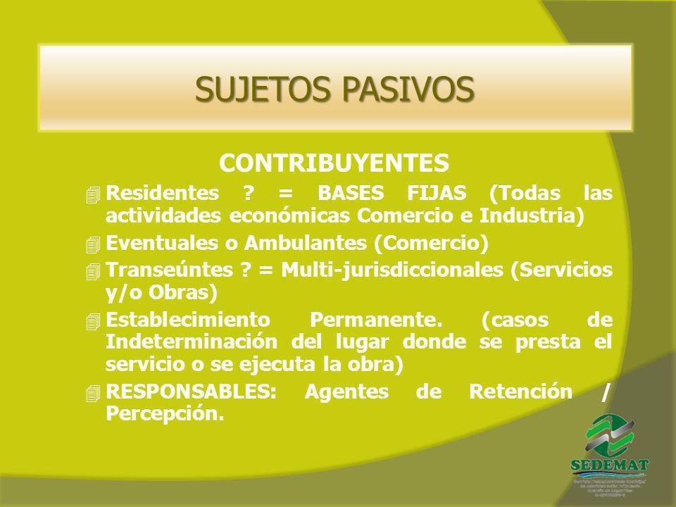 SUJETOS PASIVOS CONTRIBUYENTES