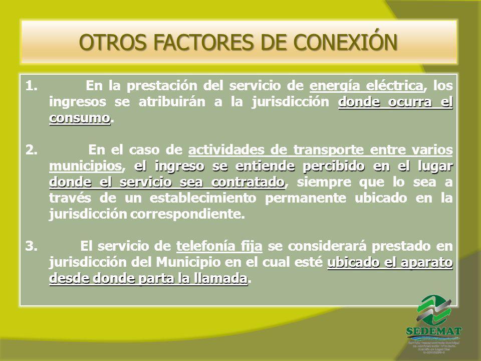 OTROS FACTORES DE CONEXIÓN