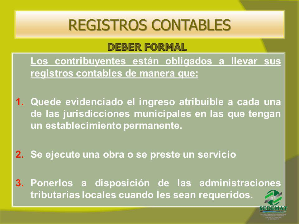 REGISTROS CONTABLES DEBER FORMAL