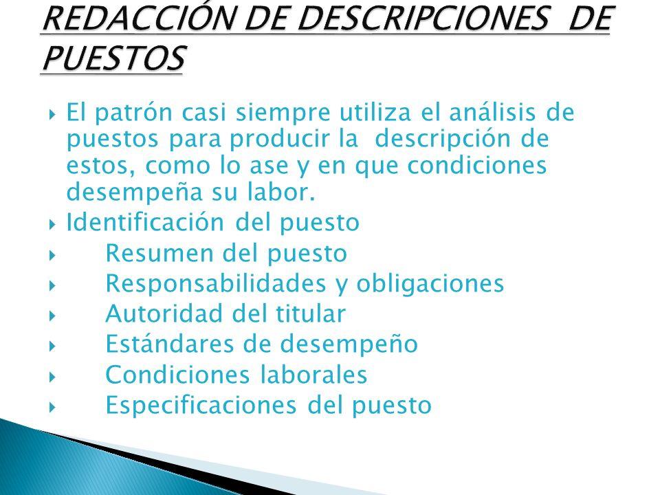 ANALISIS DE PUESTOS. - ppt video online descargar
