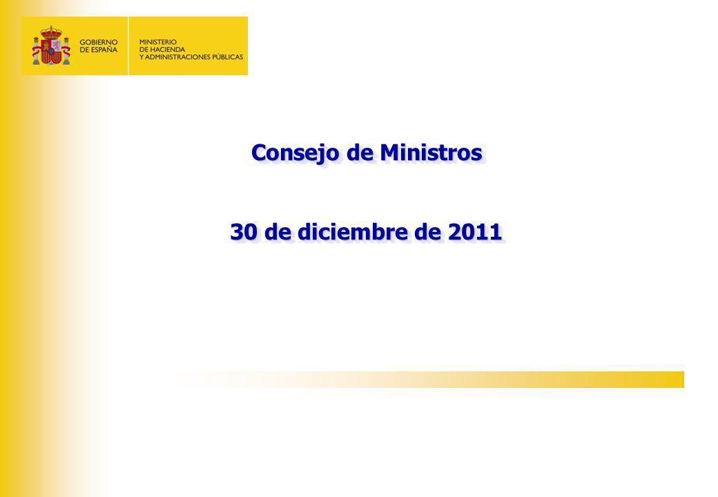 Consejo de Ministros 30 de diciembre de 2011