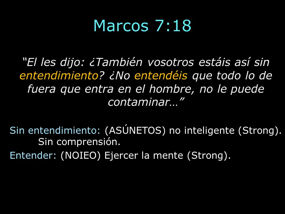Marcos 7:18