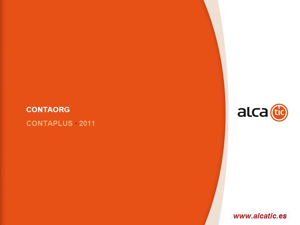 CONTAORG CONTAPLUS · 2011 www.alcatic.es