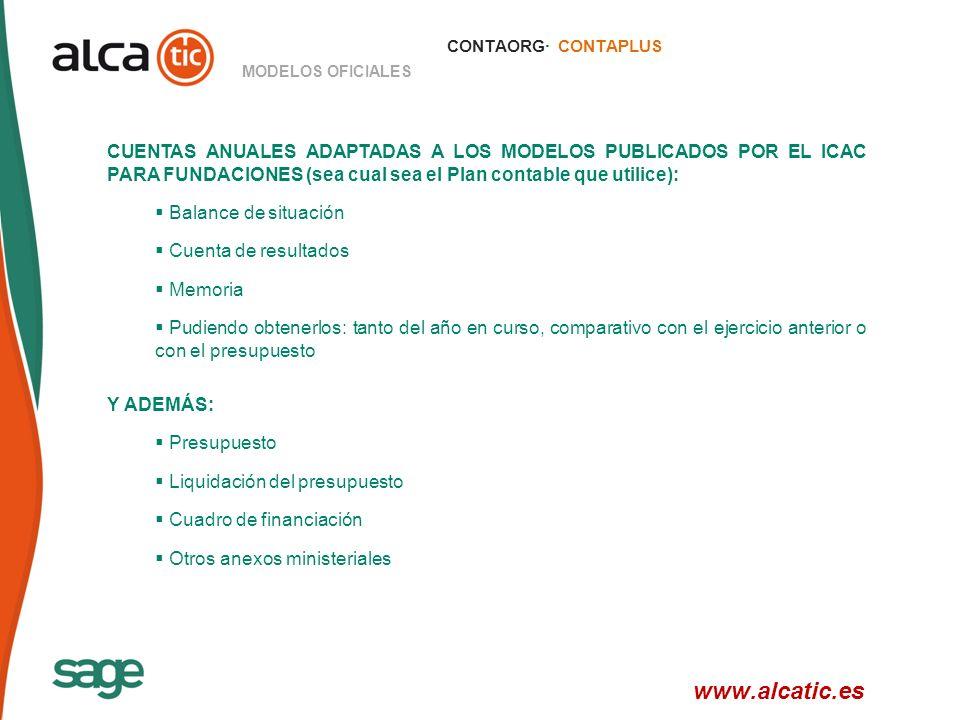 CONTAORG· CONTAPLUS MODELOS OFICIALES.