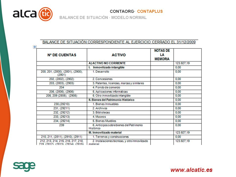 www.alcatic.es CONTAORG· CONTAPLUS