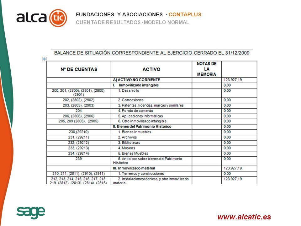 www.alcatic.es FUNDACIONES Y ASOCIACIONES · CONTAPLUS