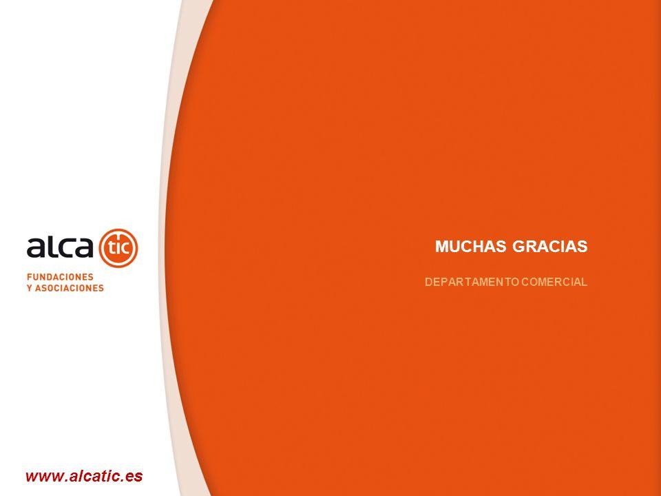 MUCHAS GRACIAS DEPARTAMENTO COMERCIAL www.alcatic.es