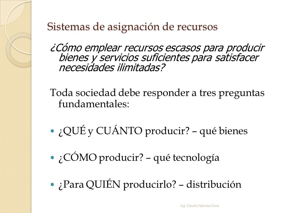 Sistemas de asignación de recursos