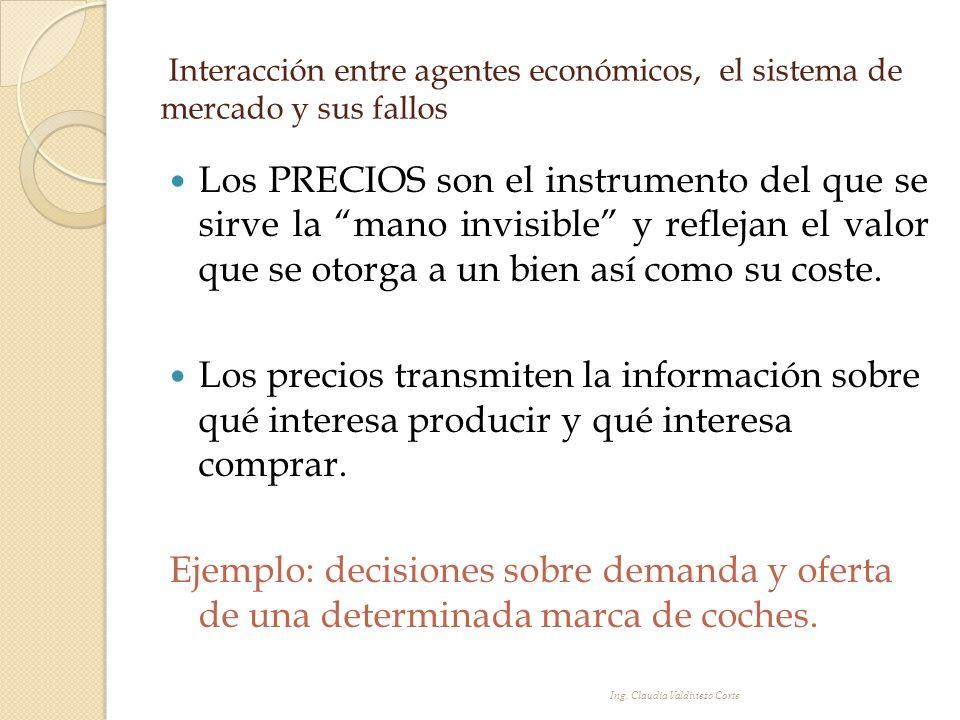 Interacción entre agentes económicos, el sistema de mercado y sus fallos