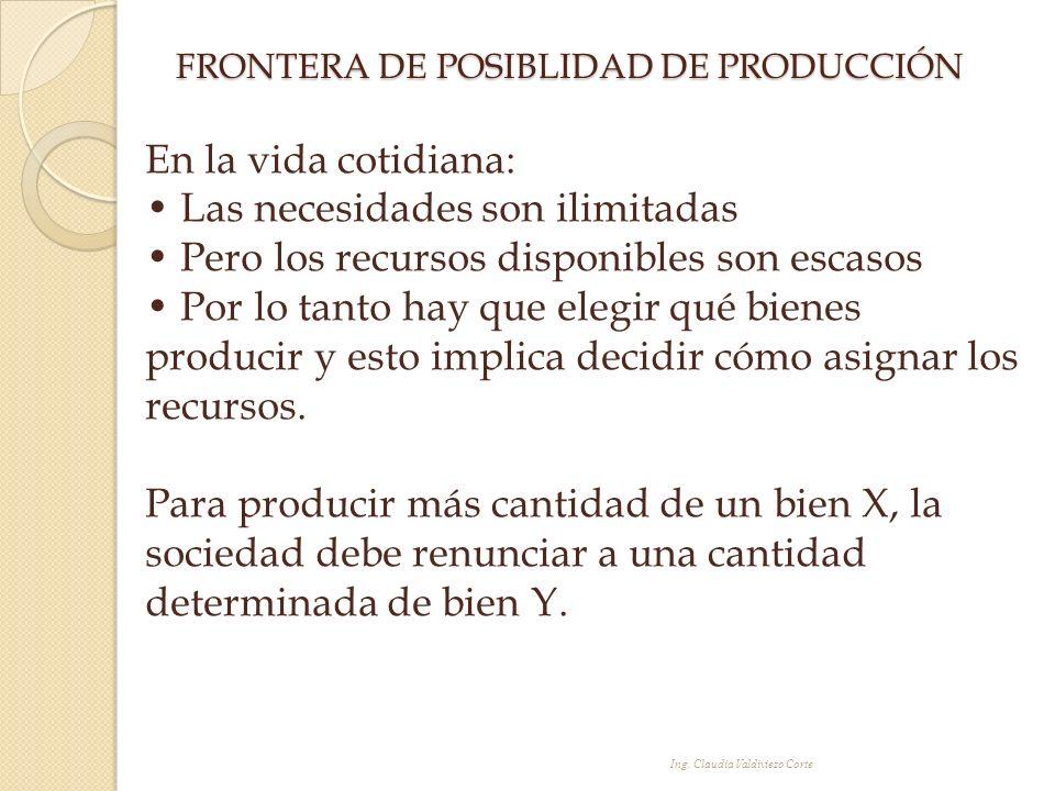 FRONTERA DE POSIBLIDAD DE PRODUCCIÓN