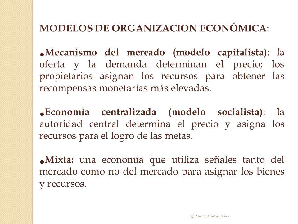 MODELOS DE ORGANIZACION ECONÓMICA: