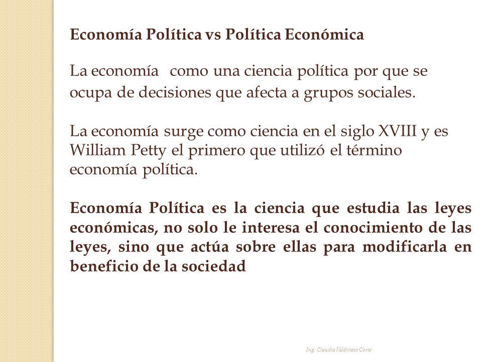 Economía Política vs Política Económica