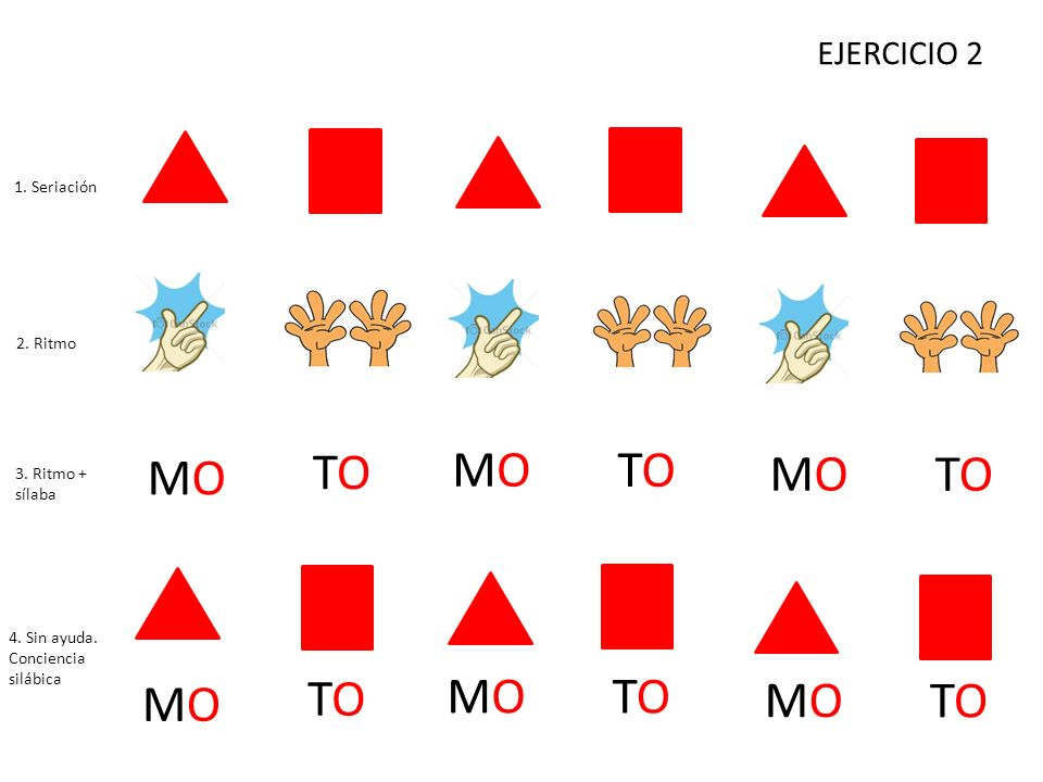 TO MO TO MO MO TO MO TO MO TO MO TO EJERCICIO 2 1. Seriación 2. Ritmo