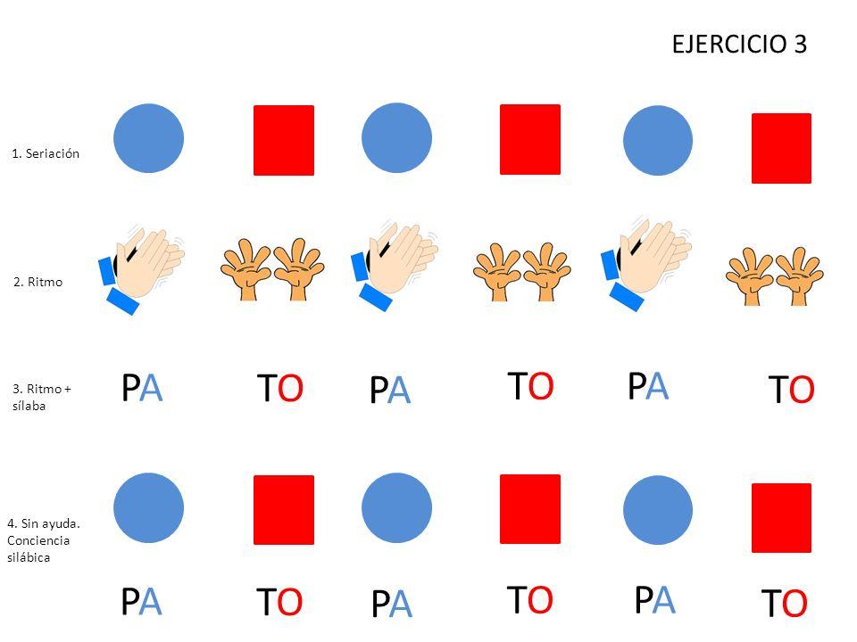 PA TO PA TO PA TO PA TO PA TO PA TO EJERCICIO 3 1. Seriación 2. Ritmo