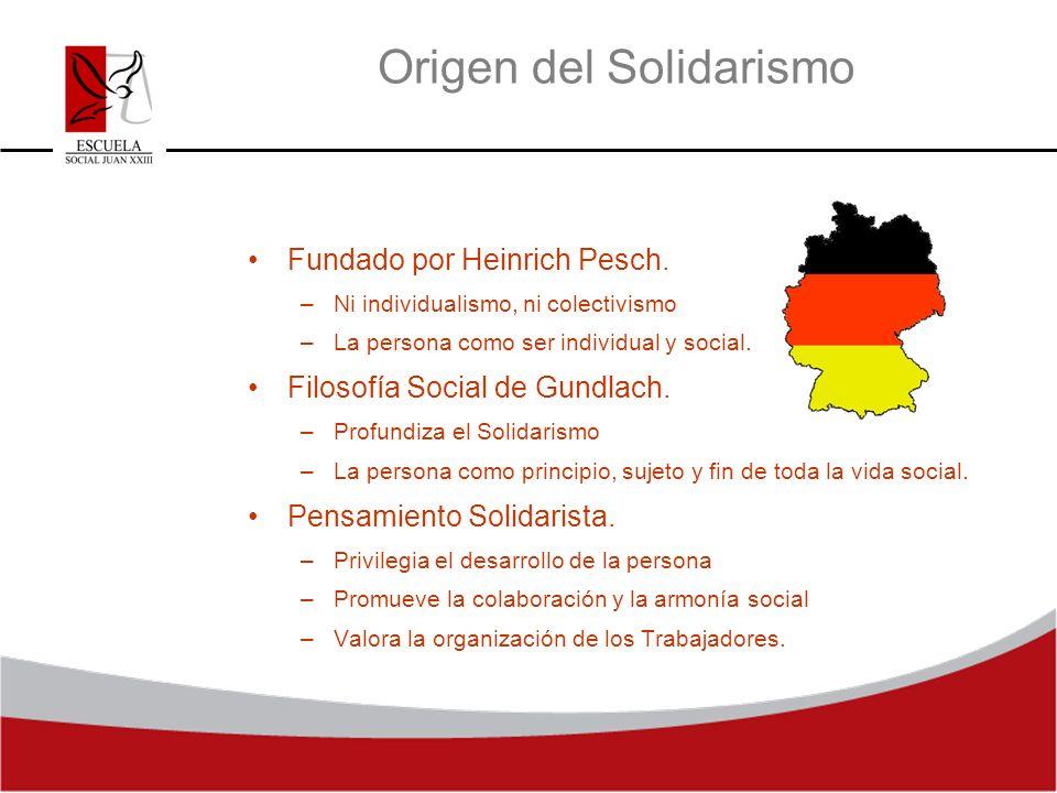 Origen del Solidarismo